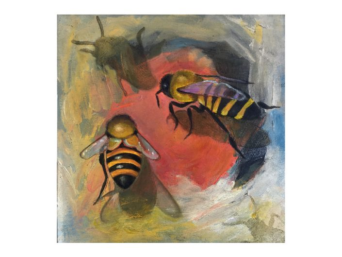 bees-shadows-oil painting