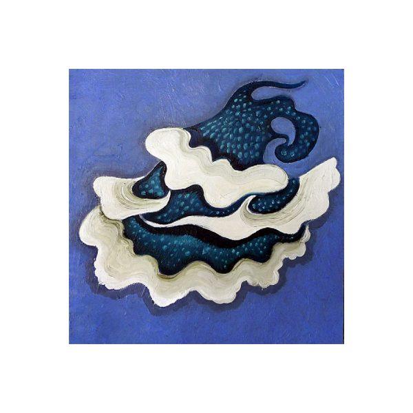 oil-painting-small-blue-white-mushroom