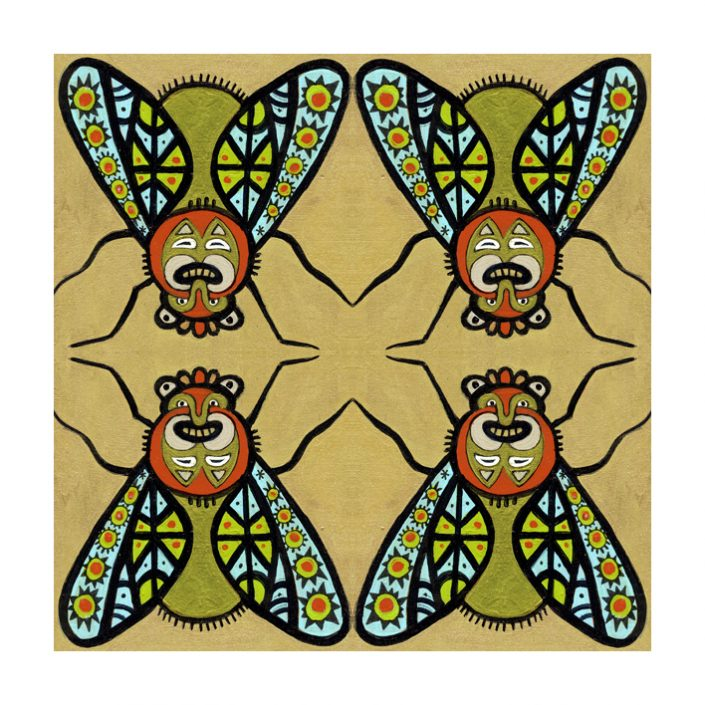 geometric, masks, insect