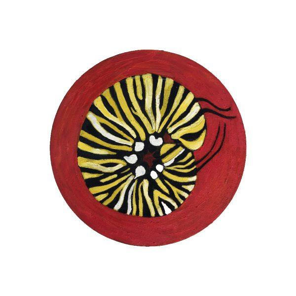 caterpillar, monarch, oil painting