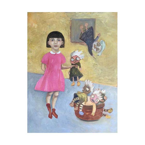 girl and dolls