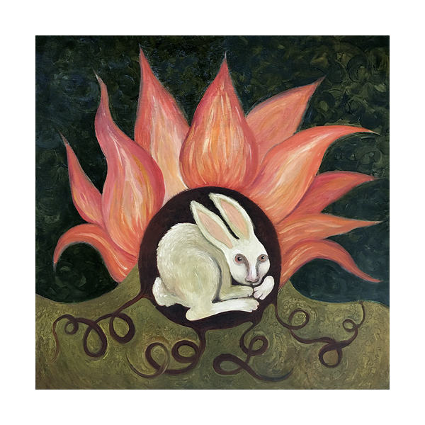 rabbit hiding from fire