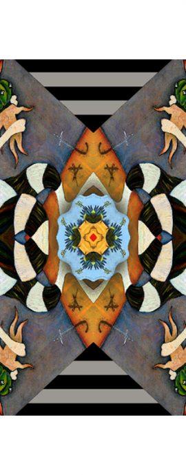 cactus, geometric patterns, mirror imagery