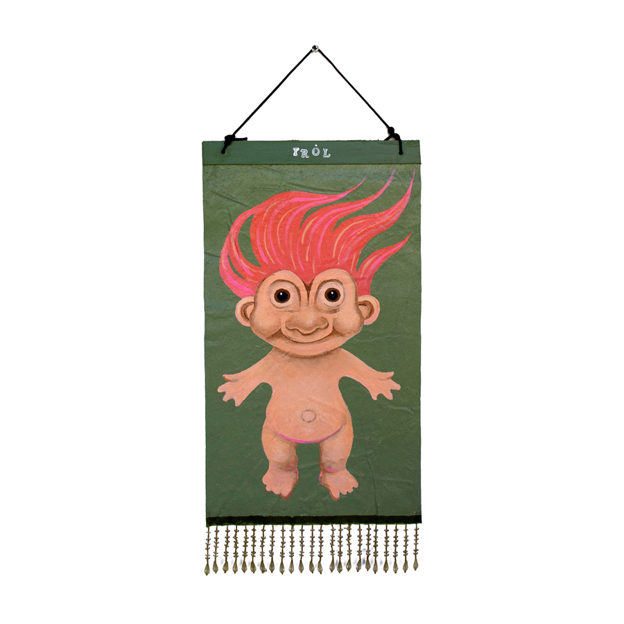 red haired troll doll