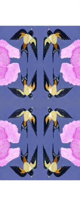 flowers, birds, hands, eyes, mirror imagery