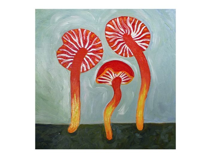 oil-painting-small-red-mushrooms
