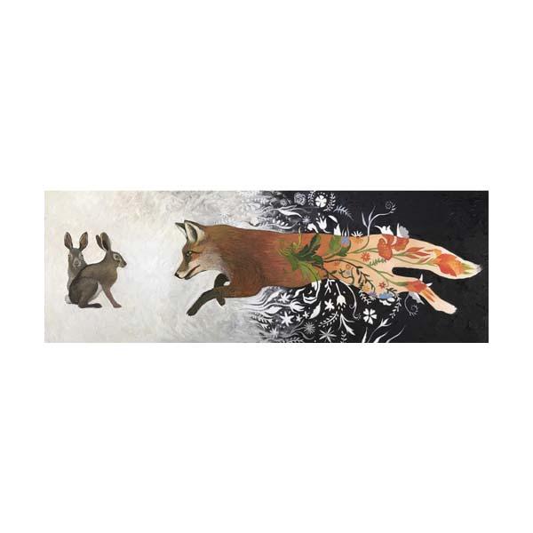 fox and rabbits